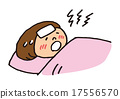 A woman sleeping with high fever 17556570