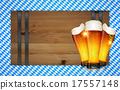 Oktoberfest background(Board and Beer) 17557148