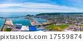 直升机拍摄 港口 海港 17559874