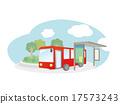벡터, 버스, 대중교통 17573243