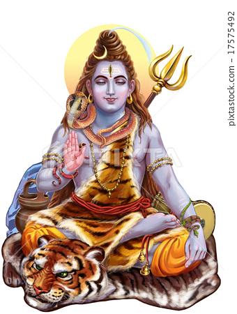 Stock Illustration: Shiva