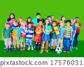 Multiethnic Children Smiling Happiness Friendship Concept 17576031
