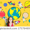 Planets Travel Dream Imagination Playful Space Universe Concept 17576469