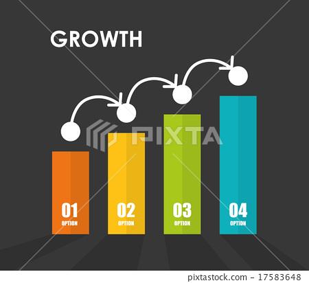 Financial growth design. 17583648