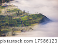 Village and Cliff at Bromo Volcano, Indonesia 17586123