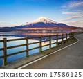 Mt.Fuji with Lake Yamanaka, Yamanashi, Japan 17586125