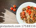 파스타, 국수, 닭고기 17588336