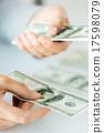 banknote, hands, cash 17598079