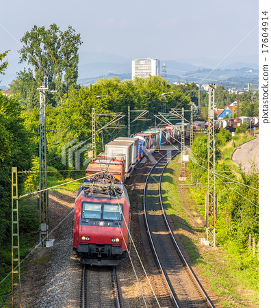 Swiss freight train in Germany 17604914
