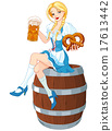 Oktoberfest Girl on the Keg 17613442