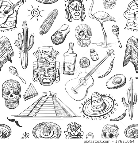 Stock Illustration: Mexican seamless pattern