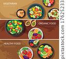 food web banner flat design. vegetarian  17625233