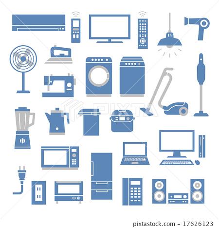 家电 矢量 电器 17626123
