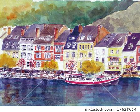Belgium tour Dinan town Nami sketch 17628654