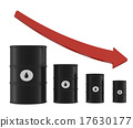 Oil Barrels with Red Arrow 17630177