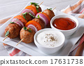 Delicious meatballs on skewers horizontal 17631738