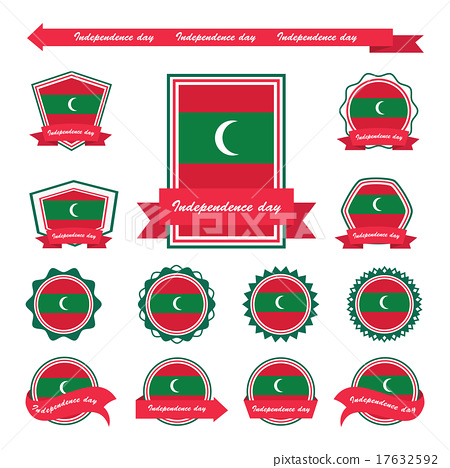 maldives independence day flags infographic design 17632592