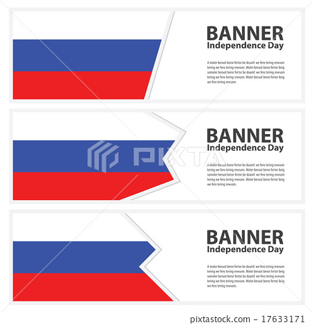 russia  Flag banners collection independence day 17633171