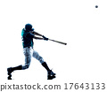 man baseball player silhouette isolated 17643133
