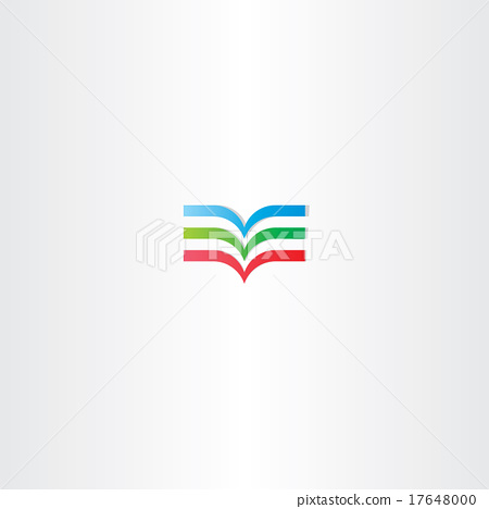 colorful book logo icon element 17648000
