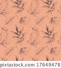 Hand drawn autumn leaves 17649478