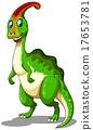 Green dinosaur looking happy 17653781