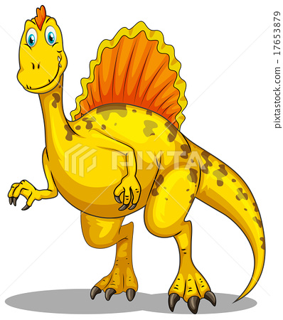 Dinosaur with spikes on the back 17653879