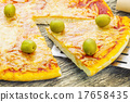 pizza, wooden, cheese 17658435