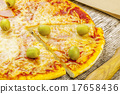 pizza, wooden, cheese 17658436