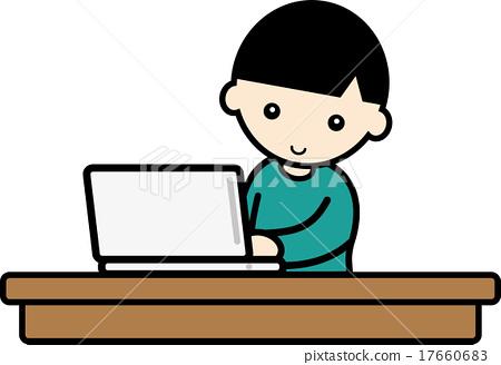 computer, boy, kid 17660683