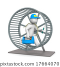 Electrician Hamster Wheel 17664070