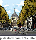 Cyclist in Paris 17670862