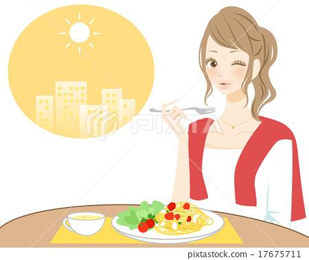 午飯時間 用餐 吃 17675711