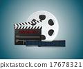 Blue cinema background 17678321