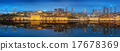Panorama os Istanbul and Bosporus at night 17678369