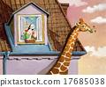 giraffe, girl, attic 17685038
