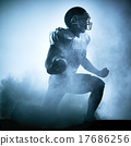 american football player silhouette 17686256