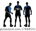 rugby men players silhouette 17688541