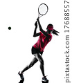woman tennis player sadness silhouette 17688557