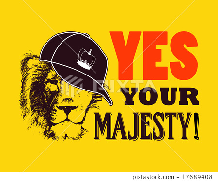 Yes your majesty. Grunge vector illustration 17689408