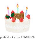 圣诞蛋糕 西式甜点 糕点 17691626