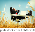 Businessman Relaxation Freedom Happiness Getaway Concept 17695910