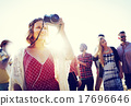 Friendship Photography Relaxation Summer Beach Happiness Concept 17696646