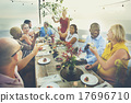 Diverse People Cheers Celebration Food Concept 17696710