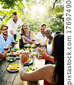 Friends Friendship Outdoor Dining People Concept 17697490