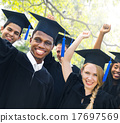 Diversity Students Graduation Success Celebration Concept 17697569