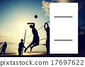 Beach Volleyball at Sunset 17697622