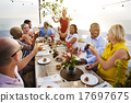 Diverse People Cheers Celebration Food Concept 17697675