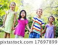 Diversity Friends Children Park Happiness Concept 17697899