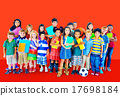 Multiethnic Children Smiling Happiness Friendship Concept 17698184